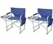Directors Camping Chair with Side Table (Twin Pack)